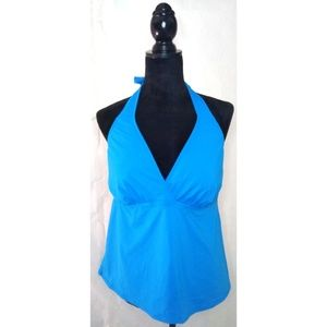 Lands End Womens Tankini/Swim Top Size 18 Teal